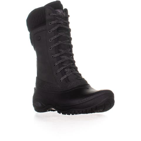 The North Face Shellista II Mid Insulated Boots, Black/Plum Kitten Grey