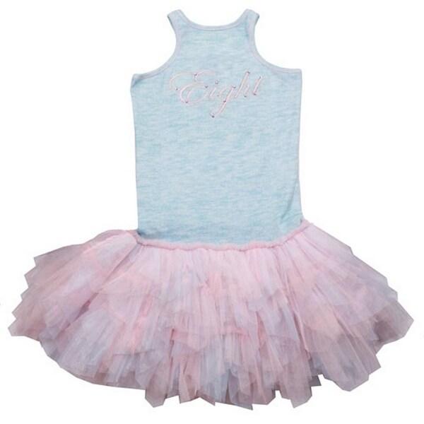 Ooh! La La! Couture Baby Girls Pink Blue Script Tutu Birthday Dress