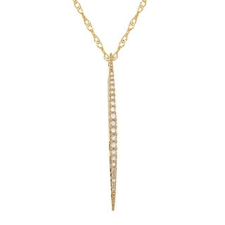 1/5 ct Diamond Stick Drop Pendant in 14K Gold
