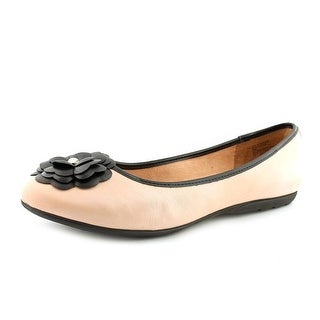 White Mountain Ian Round Toe Synthetic Flats