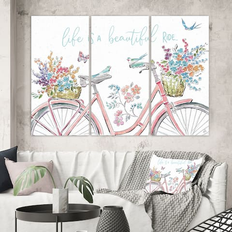 Porch & Den 'Spring Bike Bouquet' Canvas Artwork
