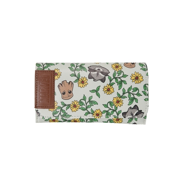 Guardians of the Galaxy Groot and Rocket Flowers Wallet