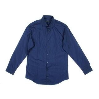 Kenneth Cole Reaction Mens Wrinkle Resistant Slim Fit Dress Shirt