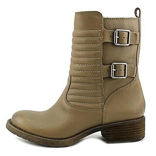 Lucky Brand Womens Dunes Combat Boots Leather Buckled
