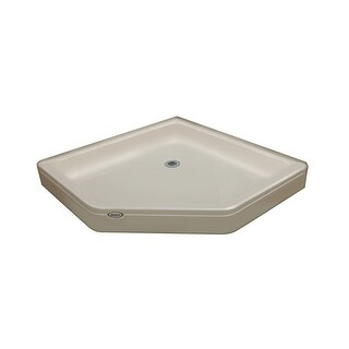 "Jacuzzi CAY4242SNXXXX Cayman 42"" x 42"" Neo-Angle Shower Pans with Center Drain"