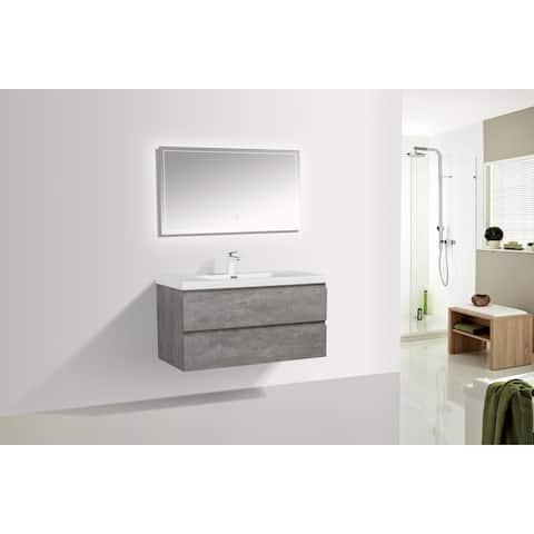 Alma-Pre 42-in. Wall-mount Vanity w/ Reinforced Acrylic Composite Sink