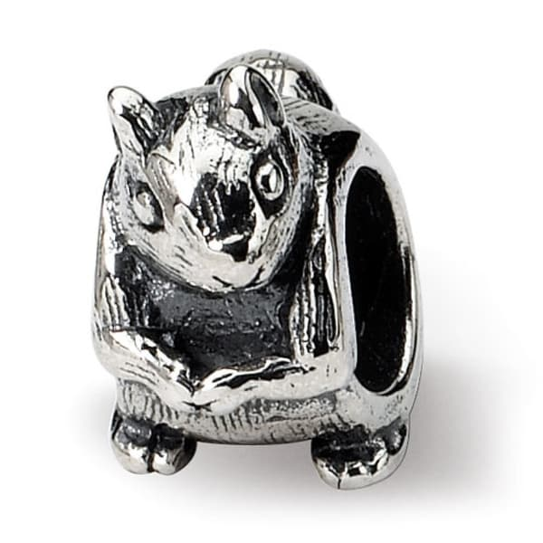Sterling Silver Reflections Squirrel Bead (4mm Diameter Hole)