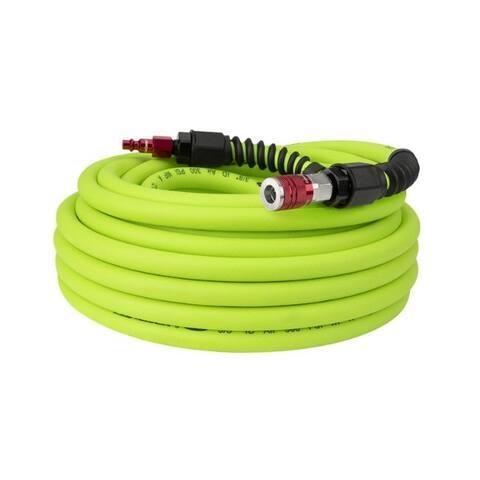 Flexzilla Pro 50 ft. L x 3/8 in. Dia. Hybrid Polymer Air Hose Kit 300 psi Zilla Green