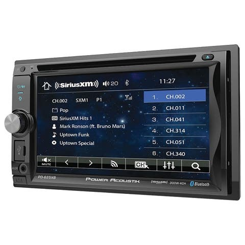 "Power Acoustik 6.2"" Double Din Receiver With Bluetooth & Detachable Faceplate W/Padded Carry Case"