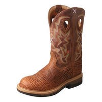 Twisted X Work Boots Mens Durable Pull Lite Cowboy Durable Tan