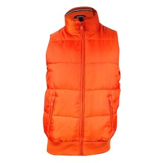 Tommy Hilfiger Men's Zip-Front Puffer Vest - Orange