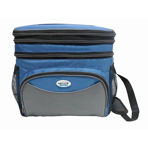 Brentwood Cooler Bag 6 Can w/ Hard Plastic Ice Bucket-BLUE