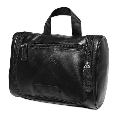 Perry Ellis Mens Hanging Shaving Kit Luggage Travel Kits, black, Extra Small (16 in. Under)
