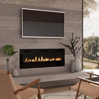 50-inch Ultra-thin Electric Fireplace Insert for Wall-mounted or In-wall Installation