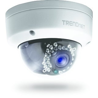 Trendnet Indoor/Outdoor 1.3 Megapixel Hd Poe Ir Dome Style Network Camera, Digital Wdr, 720P, Ip66 Rated Housing, 82Ft.