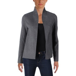 Eileen Fisher Womens Jacket Wool Open Front - XXS