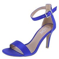 Kandy Brash Women's Satin Sandal (13 B(M) US, Cobalt)