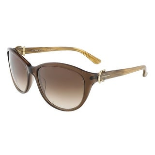 Salvatore Ferragamo SF614S 210 Crystal Brown Butterfly sunglasses - Crystal Brown - 57-17-130