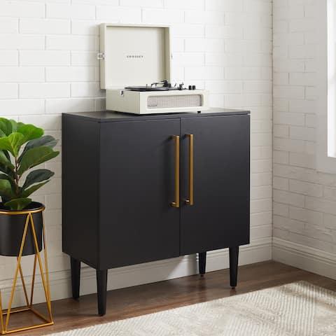 Everett Matte Black Mid-century Modern Console Cabinet - 31 W x 14 D x 30.13