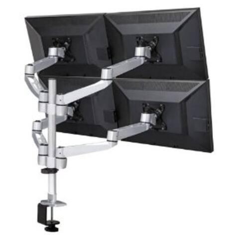 Cotytech DM-C4SA5-NS-C Four Monitor Desk Mount Quick Release Swing Arm