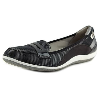 Anne Klein Sport Welcome Women Round Toe Canvas Black Flats