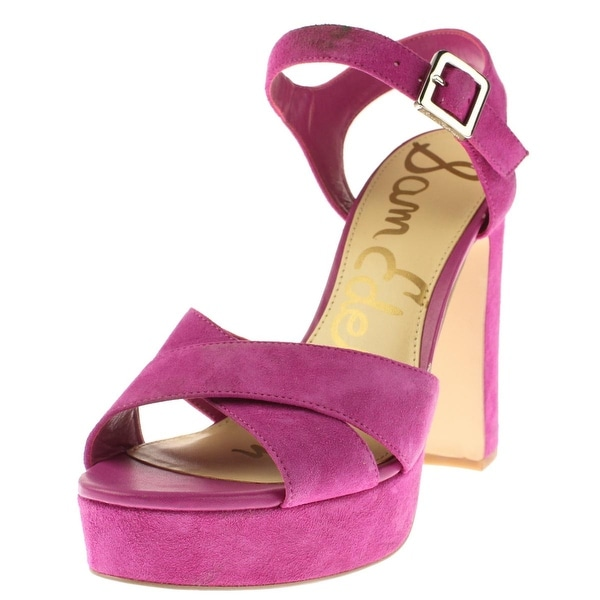882e5a9de331 Shop Sam Edelman Womens Arlene Platform Sandals Suede Block Heel - Free  Shipping Today - Overstock - 13731547