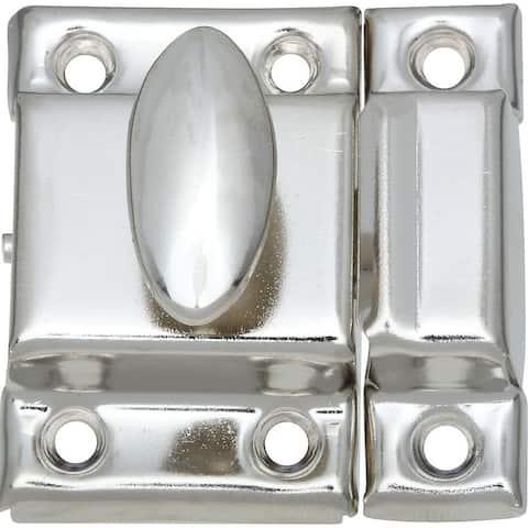 "National Hardware N149-641 V699 Traditional Cupboard Turn, 1-1/4"" x 1-3/4"", Nickel"