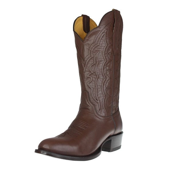 Cinch Western Boots Mens Round Toe Leather Cowboy Chocolate