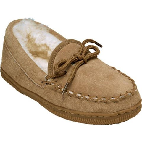 Old Friend Children's Loafer Moccasin Slipper Chestnut