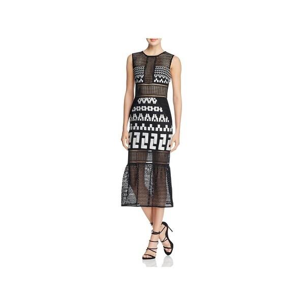 f2bc78e9aef16 Shop Elliatt Womens Venture Bodycon Dress Lace Embroidered - Free ...