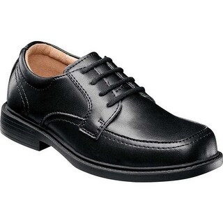 Florsheim Boys' Billings Jr. II Moc Toe Shoe Black Leather