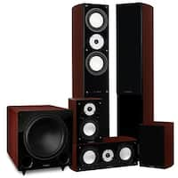 Fluance Reference Series Surround Sound Home Theater 5.1 Channel System - Mahogany (XL51MR)