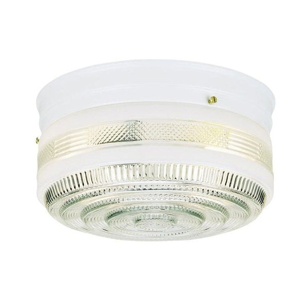 Westinghouse 66238 Two Light Interior Flush Mount Ceiling Fixture, 10.75""