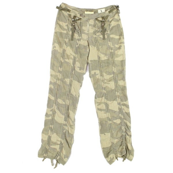 e7241efc74a Shop Da-Nang Military Green Womens Size Large L Silk Camouflage ...