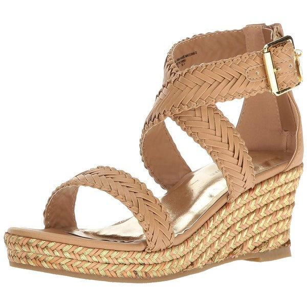 17412476063 Kids Stuart Weitzman Girls Akilah Sparkle Zipper Ankle Strap Slide Sandals