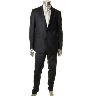 Andrew Fezza Mens Notch Collar Slim Fit Two-Button Suit - 40S