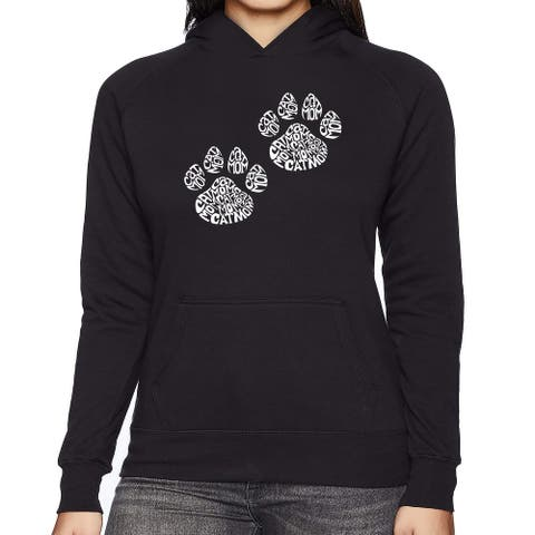 Women's Word Art Hooded Sweatshirt -Cat Mom