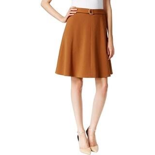 Nine West Womens A-Line Skirt Ponte Knee Length