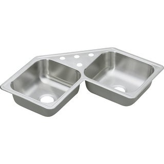 "Elkay DE21732 Dayton 31-7/8"" Double Basin Drop In Stainless Steel Kitchen Sink"