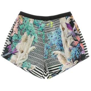 Clover Canyon Womens Shantung Printed High-Waist Shorts - M