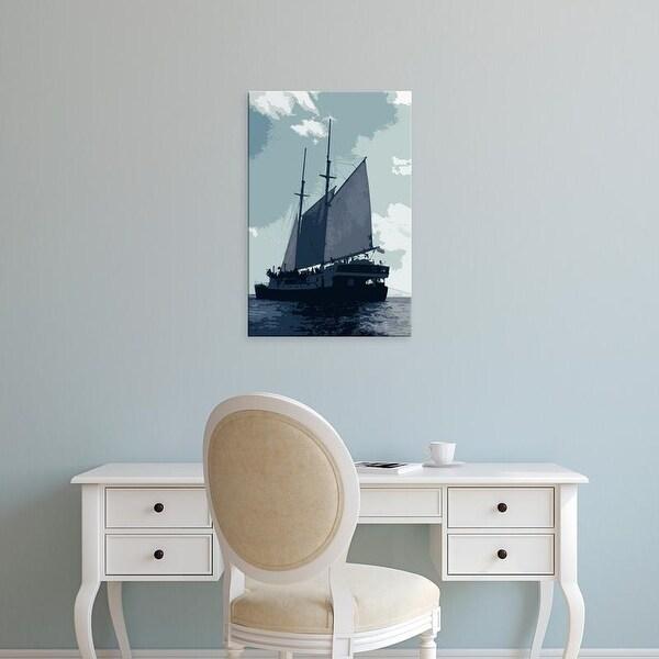 Easy Art Prints Carolyn Longley's 'Caribbean Vessel I' Premium Canvas Art