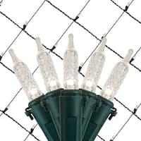 Wintergreen Lighting 72492 100 Bulb 4Ft x 6 Ft LED Decorative Holiday Net Light