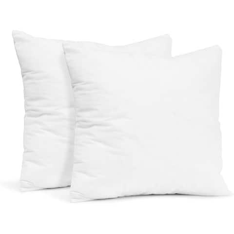 Empyrean Bedding Throw Pillow Insert - Cotton Blend Outer Shell Decorative Pillows (Pack of 2)
