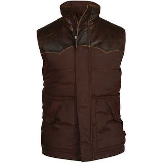 StS Ranchwear Western Vest Mens Nylon Leather Yolk Lucas Brown STS9043|https://ak1.ostkcdn.com/images/products/is/images/direct/a075c6dec562e73909f1b62440e8b9a617b48be0/StS-Ranchwear-Western-Vest-Mens-Nylon-Leather-Yolk-Lucas-Brown-STS9043.jpg?impolicy=medium