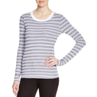Stateside Womens Pullover Top Textured Striped