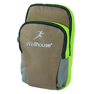 Wellhouse Authorized Unisex Phone Holder Workout Sports Arm Bag Light Brown