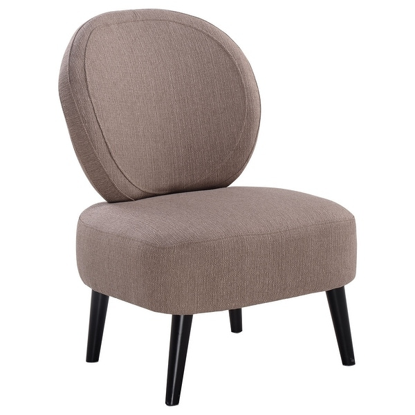 Round Back Dining Room Chairs: Shop Costway Armless Accent Chair Round Back Dining Chair