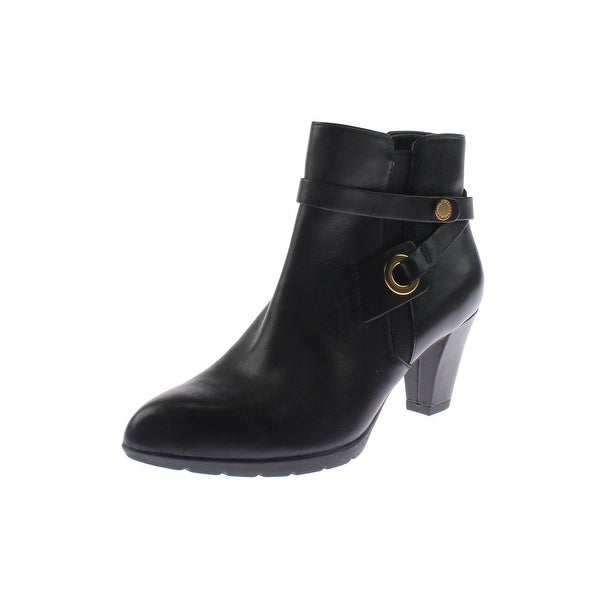 Anne Klein Womens Chelsey Ankle Boots Leather Pumps