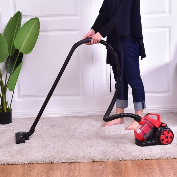 Shop Costway Vacuum Cleaner Canister Bagless Cord Rewind