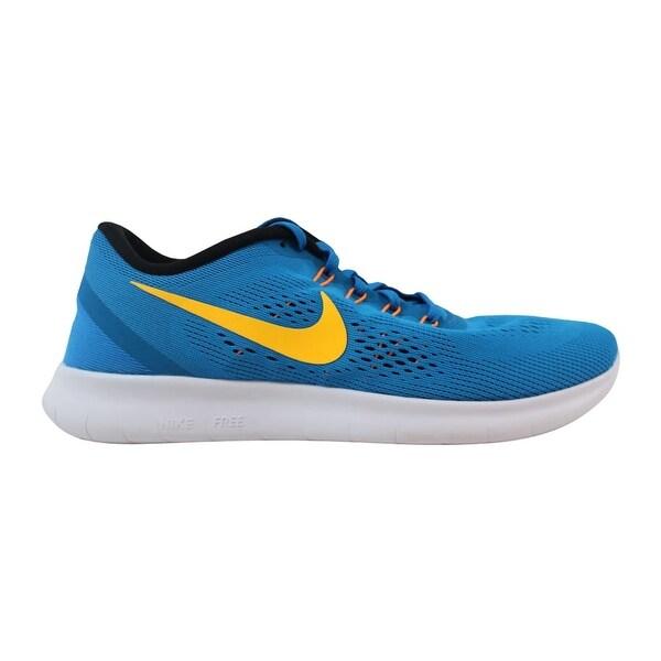 Shop Nike Free RN Heritage Blue/Yellow